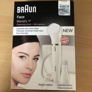 Braun Face Cleansing Brush + Mini Epilator