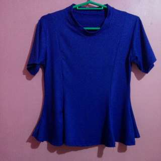 Royal Blue Flowy top