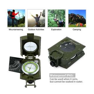 Proster Professional Compass Metal Waterproof IP65 Compass Sighting Clinometer with Carry Bag for Camping Hunting Hiking Geology and Other Outdoor Activities
