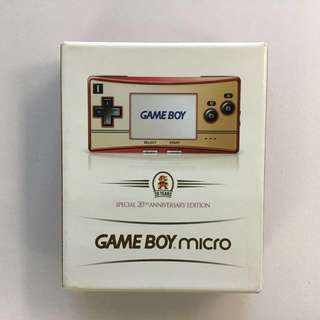 GBM Gameboy micro 20周年限定 9成新 連永井豪經典遊戲一隻