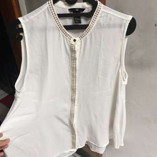 Hnm White Top Stud