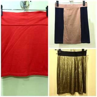 BUNDLE OF 3: Mini Bandage Skirts