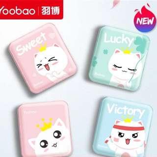 Yoobao 超萌迷你小巧便携 10000mah 手機充電器 充電寶 雙輸出
