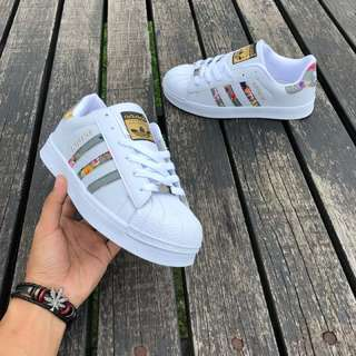 ADIDAS Superstar Floral White Grey