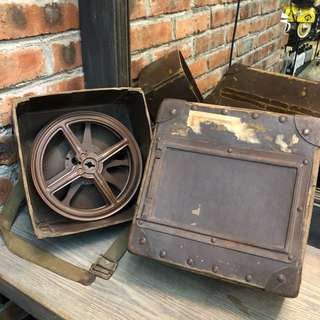 Vintage NBC 16mm Movie Film Reel Box Shipping Case Container W/STRAP