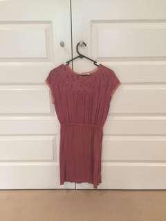 Pink high cut dress