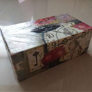 Handmade DeCoupage Art Tissue Box