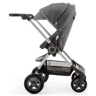 2手。Stokke Scoot V2 嬰兒推車-亞麻灰🎉贈專屬睡袋、雨罩、蚊帳、杯架🎉