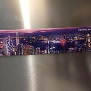 Fridge Magnet Hong Kong Skyline purple new
