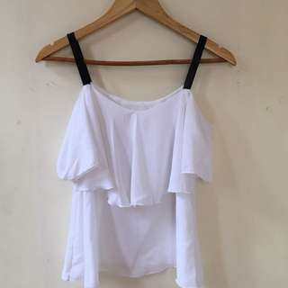 White Top with Black Strap