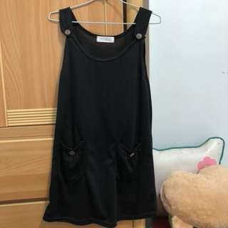 🚚 黑色吊帶裙