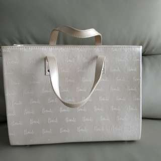 Beige Harrods work bag