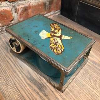 Antique Vintage Shaving Kit Foldover Travel Brush Soap Bowl Barber