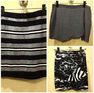 BUNDLE OF 3: Black Mini Skirts