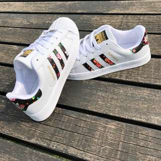 ADIDAS Superstar Floral W/Black