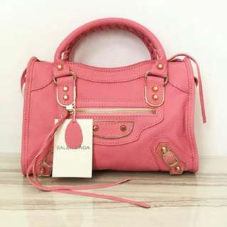 BALENCIAGA SMALL METALIC EDGE PINK GHW
