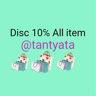 Disc 10℅ ALL ITEM