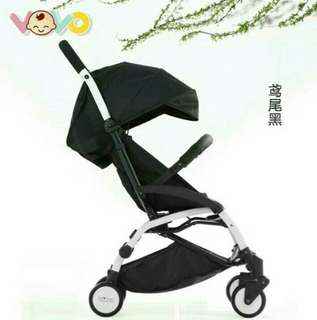 (Ready Stock, BNIB) Vovo Compact Light weight Portable Travel Stroller Upgraded version (Free delivery)