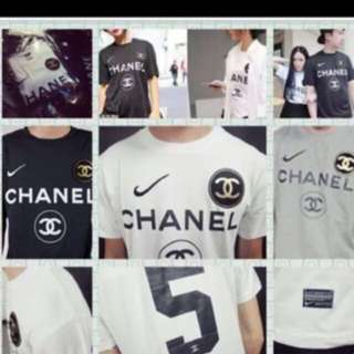 Instock Chanel No5 jersey white color