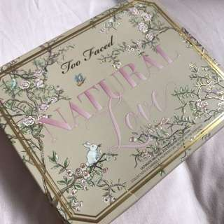 Authentic Too Faced Natural Love Eyeshadow Palette