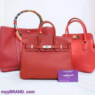 全新 HERMES Birkin 25 Red Garden Party 36 GP36 Toolbox 20 Tomate S5 皮 手袋 肩背袋 紅色 蕃茄紅 Tote Handbag