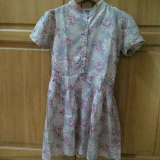 Pink Flowery Dress