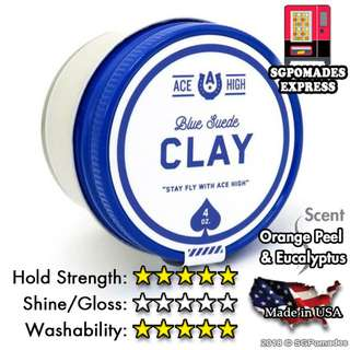 (Free mail) Ace High Blue Suede Clay Waterbased