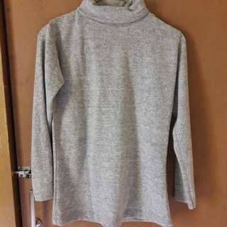 baju turtleneck grey