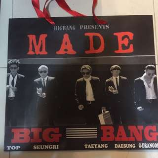 (全新) BigBang MADE Tour紙袋