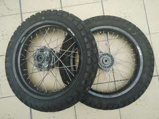 KTN gp125 spoke rim n tyre