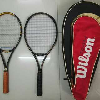 Tennis Reket 2 + 1 Bag
