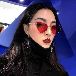 Red Cateye Cat Eye Sunglasses