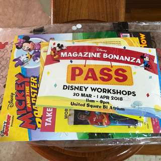 Disney United Square Kit with Bag Passes and Cards