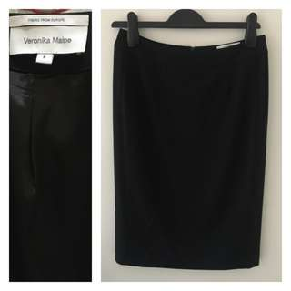 Veronika Maine Black Pencil/Office Skirt (Size 8)