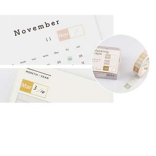 < preorder > monthly washi tape