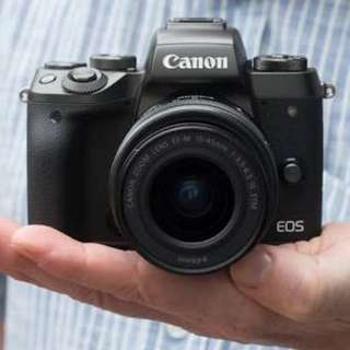 Kredit Canon EOS M5 Mirrorless Digital Camera with 15-45mm Lens dp ringan tanpa cc