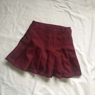Maroon Tennis Skirt