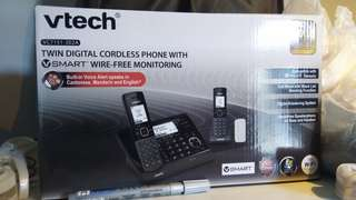 BRAND NEW: V tech cordless phone with alarm set