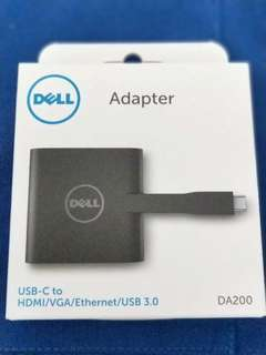 Dell adapter usb C to hdmi/vga/ethernet/usb 3.0