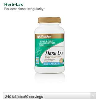 Shaklee HERB-LAX 240 tablets- Natural Laxative