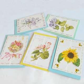 花卉卡片一組