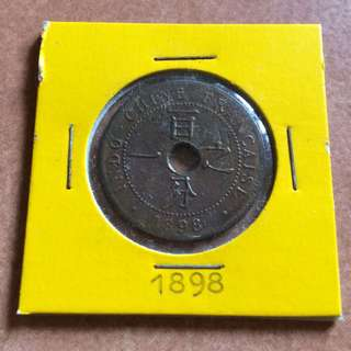 Coin - French Indochina 1898 1 Centime (rare)
