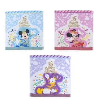 Tokyo Disneysea Disneyland Disney Resorts Sea Land 35th Anniversary Happiest Celebration Mini Towel Set Preorder