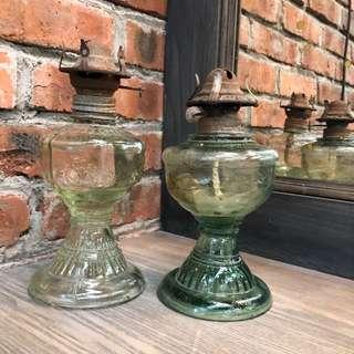 Antique Kerosene Parlor Lamp - Burner Oil Light
