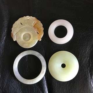 玉環四件(一齊賣)