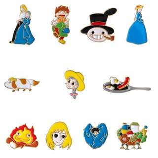#28 howl's moving castle anime enamel pin | PO
