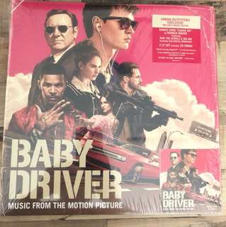 Baby Driver Soundtrack US Urban Outfitters 2 Vinyl LP with poster and one bonus digital track