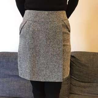 C區:韓貨OL灰色短裙