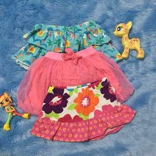 bundle of baby skirts