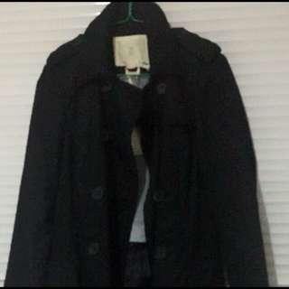 Stradivarius black trench coat bnwt